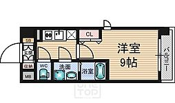 WGB江坂[1階]の間取り