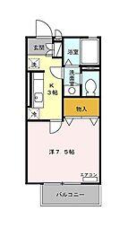 レーヴ平和台[2階]の間取り