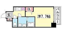 ポルト・ボヌール神戸湊川公園[12階]の間取り