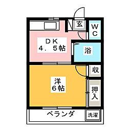 ドミール松本[1階]の間取り