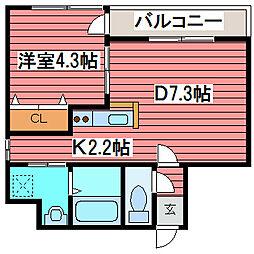 MARUKOH MS NO.1[2階]の間取り