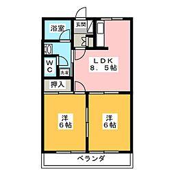 パールガーデン[2階]の間取り