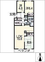 日進パークマンション1404号[14階]の間取り