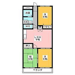 エクセルシティー[3階]の間取り