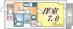 兵庫県神戸市中央区東川崎町7丁目の賃貸マンションの間取り
