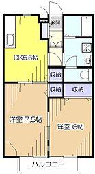 コンフォート小平壱番館[2階]の間取り