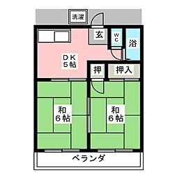 山崎荘[1階]の間取り