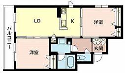 住道矢田1丁目計画 2階2LDKの間取り