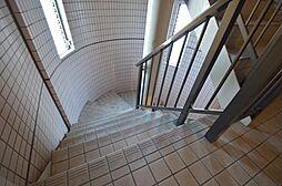 陽射し射し込む明るい共用階段.