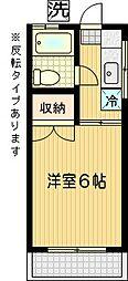 サンパークNAKAJIMA[205号室]の間取り