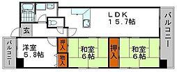 メゾン・セルベイル[8階]の間取り