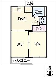 サンシティ和川[2階]の間取り