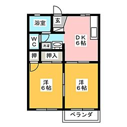 原町アパートメント北[1階]の間取り