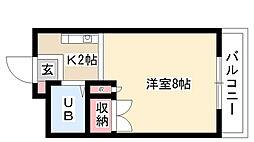 愛知県名古屋市瑞穂区白龍町1丁目の賃貸マンションの間取り