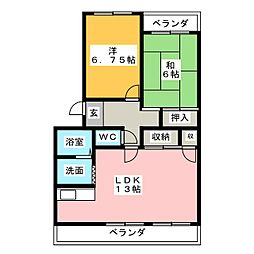 レジデンスHOSHISOU[1階]の間取り
