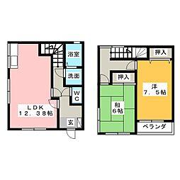 [テラスハウス] 静岡県静岡市清水区吉川 の賃貸【/】の間取り