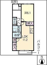 EastVillage[1階]の間取り