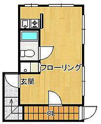 吉澤邸ワンルーム[2階]の間取り