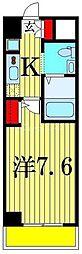 ジェンティーレ・トリヤマ 12階1Kの間取り