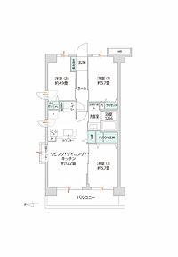 間取り(最上階・角部屋に位置するお部屋。2019年10月にリノベーションが完成しました。)