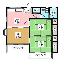 コーポベルフラワー[2階]の間取り