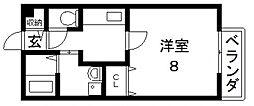 メゾンドゥ長瀬[1階]の間取り