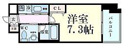Innocent Doyama(イノセント堂山) 8階1Kの間取り