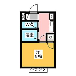 パレス草薙[1階]の間取り