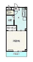 JR青梅線 羽村駅 徒歩6分の賃貸アパート 3階1Kの間取り