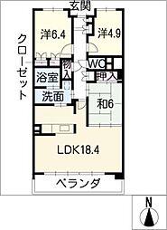 レザンドール東山元町[2階]の間取り