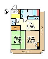 第一八千代ビル[5階]の間取り