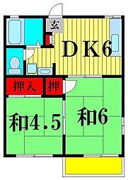 グランドパレス松戸[1階]の間取り