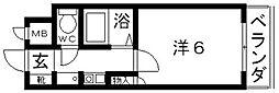ハートフル藤井寺[305号室号室]の間取り