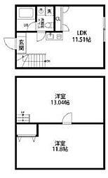 都営大江戸線 西新宿五丁目駅 徒歩10分の賃貸マンション 1階2LDKの間取り
