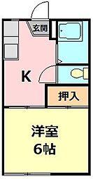 コーポ桐谷[102号室]の間取り