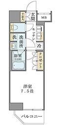 東京都台東区台東3丁目の賃貸マンションの間取り