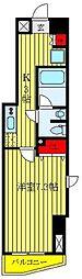 都営三田線 板橋本町駅 徒歩9分の賃貸マンション 5階1Kの間取り