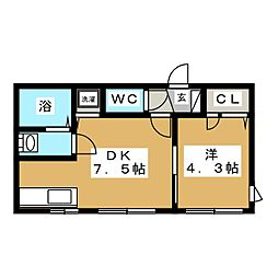 Flats LIDO 菊水[3階]の間取り
