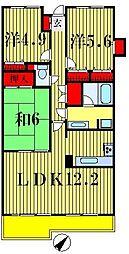プライムシティ松戸[3階]の間取り