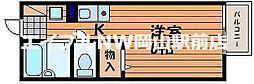 岡山県岡山市中区中井4丁目の賃貸アパートの間取り
