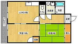 京都府宇治市五ケ庄一番割の賃貸マンションの間取り