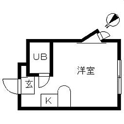 ベルピア鶴ヶ峰第2[201号室]の間取り