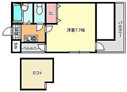 ミーネ参番館[7階]の間取り