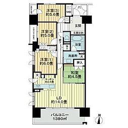 仙台市営南北線 勾当台公園駅 徒歩9分の賃貸マンション 11階4LDKの間取り
