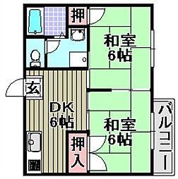 ときわプラザ[2階]の間取り