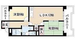 愛知県名古屋市天白区植田西1丁目の賃貸マンションの間取り