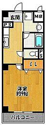 サンシャイン北神戸[1階]の間取り