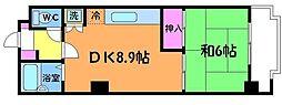 東京都調布市仙川町3丁目の賃貸マンションの間取り