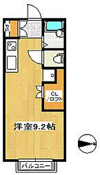 サンキャッスル・16[2階]の間取り