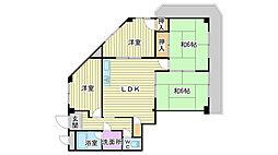 土山ヤングコーポ[3階]の間取り